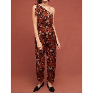 "Anthropologie ""Maeve"" Kyoto Floral Jumpsuit"